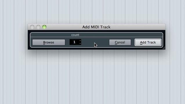 Add Midi track