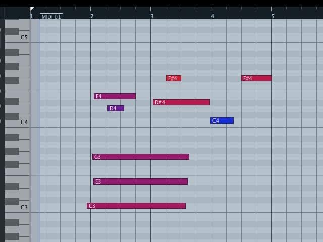 Note MIDI non allineate alla griglia di quantizzazione