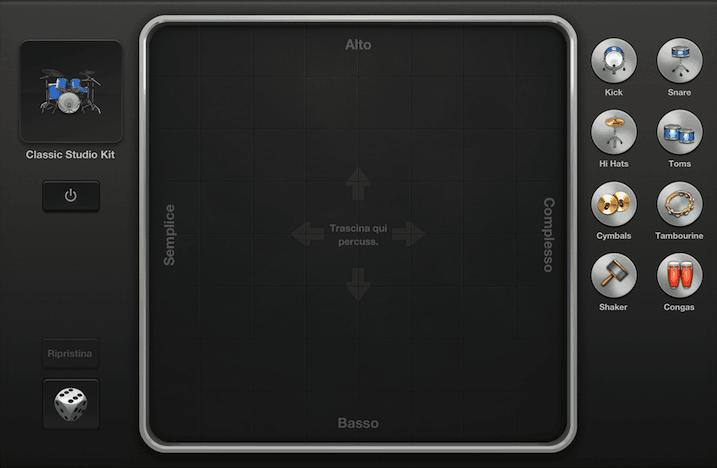 Smart Drums, l'innovativo strumento per percussioni di GarageBand iOS.