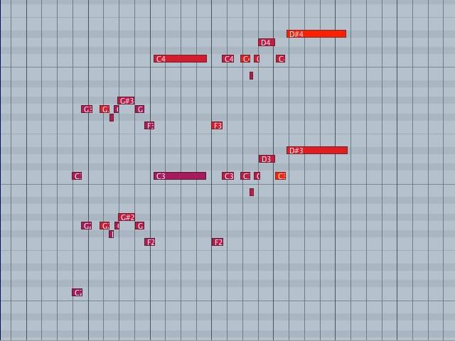L'editor MIDI: velocity alta e niente quantizzazione