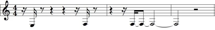 Partitura creata da una traccia non quantizzata