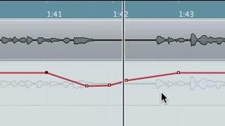 L'automazione di un parametro disegnata col cursore
