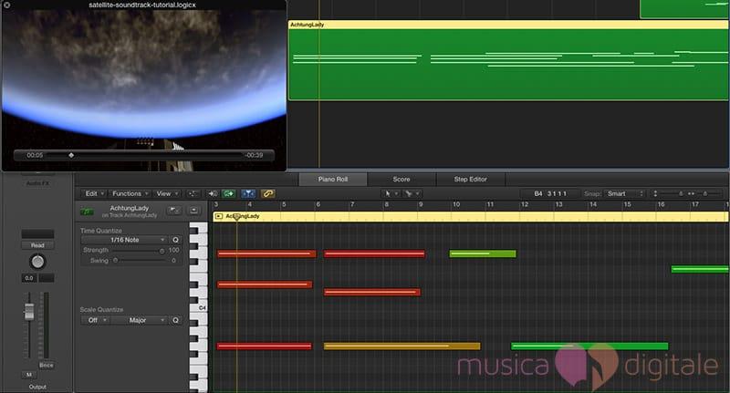 Una semplice sincronizzazione di immagini e audio in Logic Pro X
