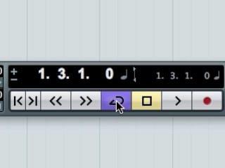 Il tasto per attivare la funzione di loop.