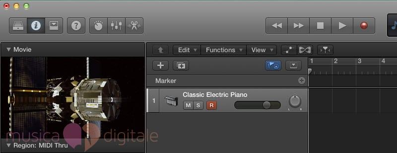 La traccia Marker di Logic Pro X