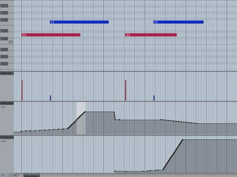 Velocity e Modulation sempre sottomano nel MIDI Editor di Cubase