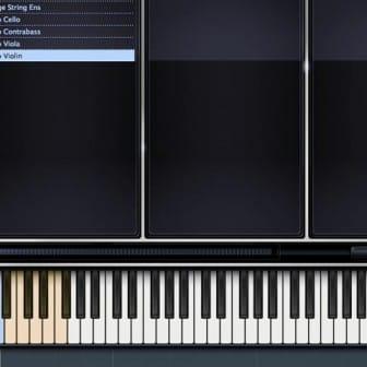 Un virtual instrument di violino abilitato per i keyswitch.